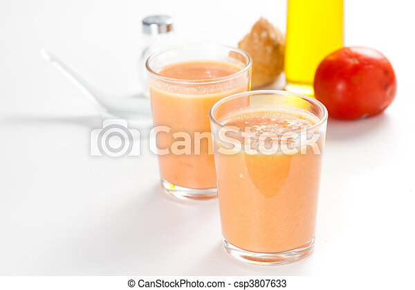 delicious gazpacho typical spanish gastronomy - csp3807633