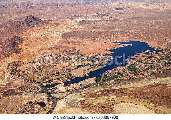 aéreo, lago,  vegas,  las,  Nevada, vista - csp3807900