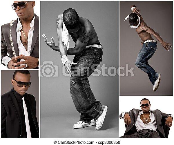 Young stylish black men - csp3808358