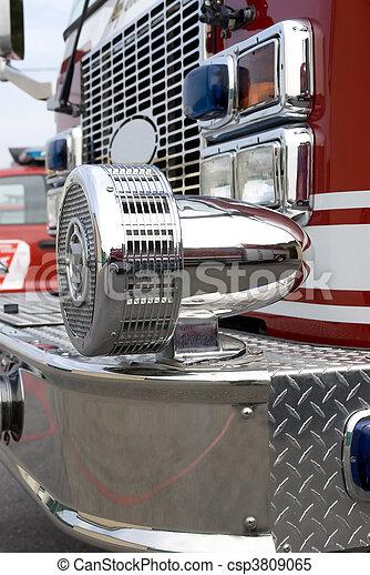 Fire Truck Siren - csp3809065