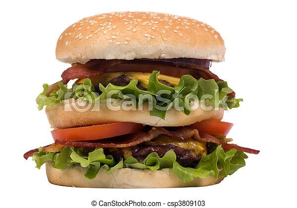 Bacon Cheeseburger Clip Art Stock photo - hamburger series  bacon    Bacon Cheeseburger Clip Art