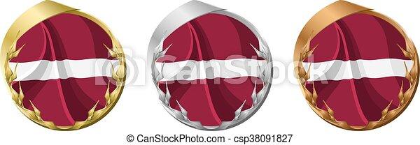Medals Latvia - csp38091827