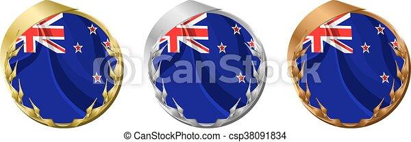 Medals New Zealand - csp38091834