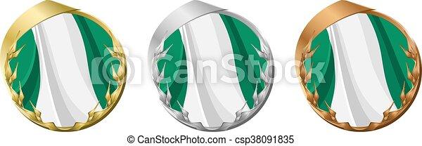 Medals Nigeria - csp38091835