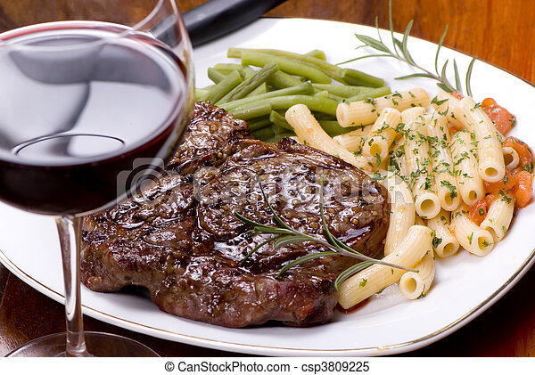 Rib Eye Steak Dinner 5 - csp3809225