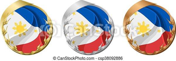 Medals Philippines - csp38092886