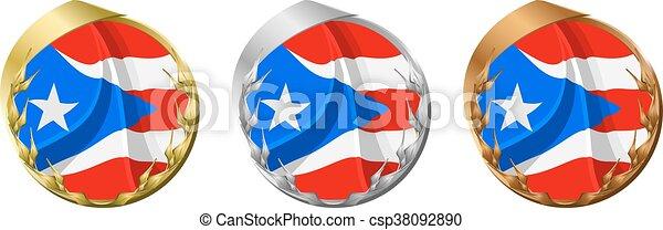 Medals Puerto Rico - csp38092890