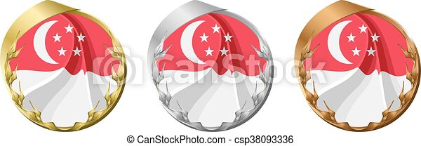 Medals Singapore - csp38093336
