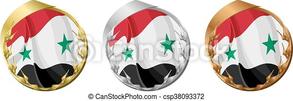 Medals Syria - csp38093372