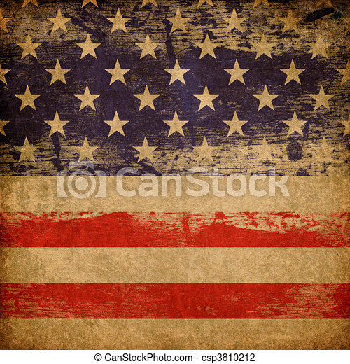 Grunge american patriotic theme background. - csp3810212