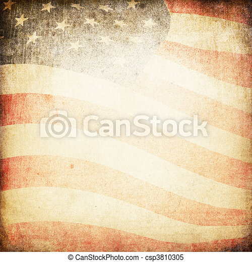 USA flag theme background and texture - csp3810305