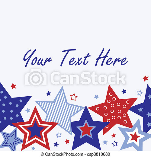 Fourth of July Card - csp3810680