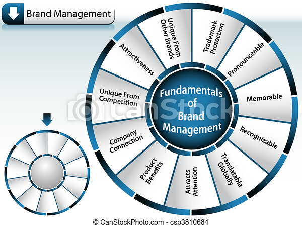 Brand Management Wheel - csp3810684