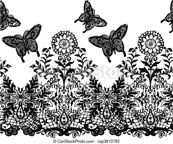 seamless lace pattern - csp3810783