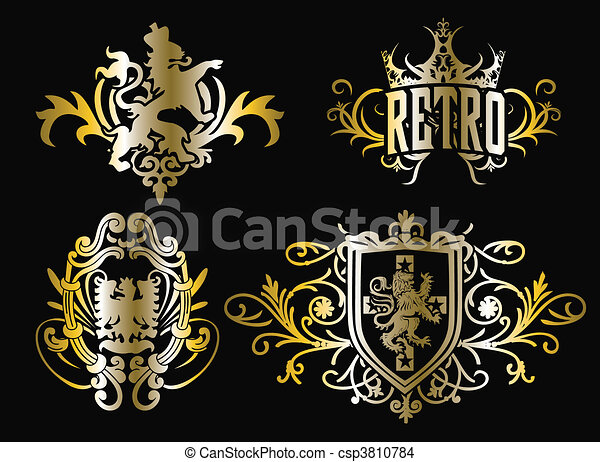 crest fancy shield design - csp3810784