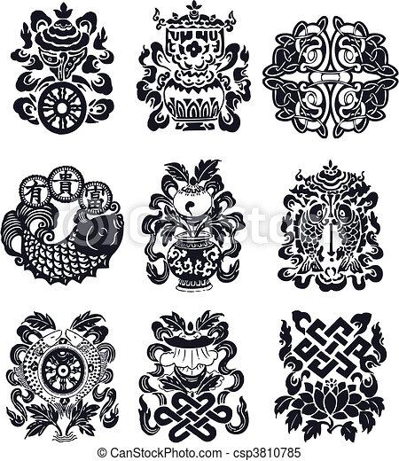 flourish oriental emblem - csp3810785