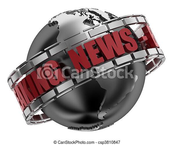 Breaking News - csp3810847