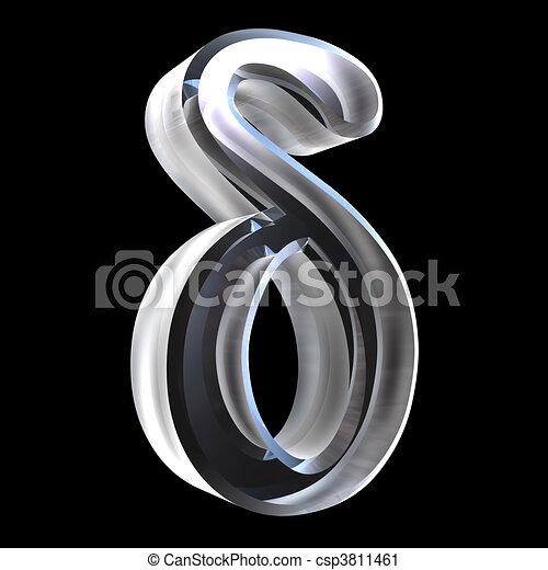 delta, símbolo, vidrio, (3d) - csp3811461