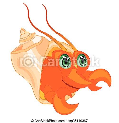 Crab in seashell - csp38119367