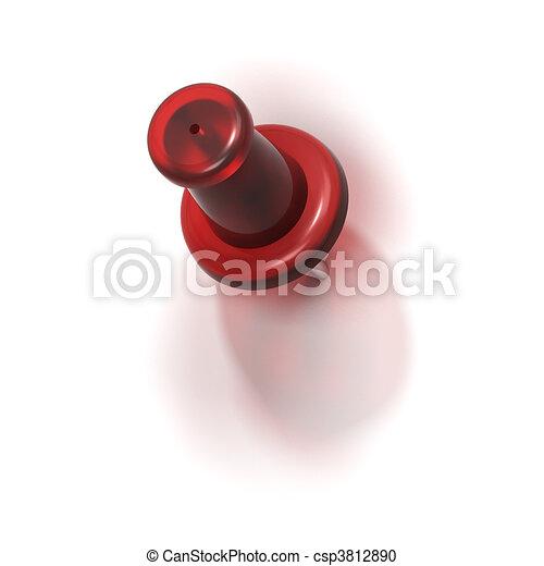 red plastic pushpin or thumbtack - refuse - csp3812890