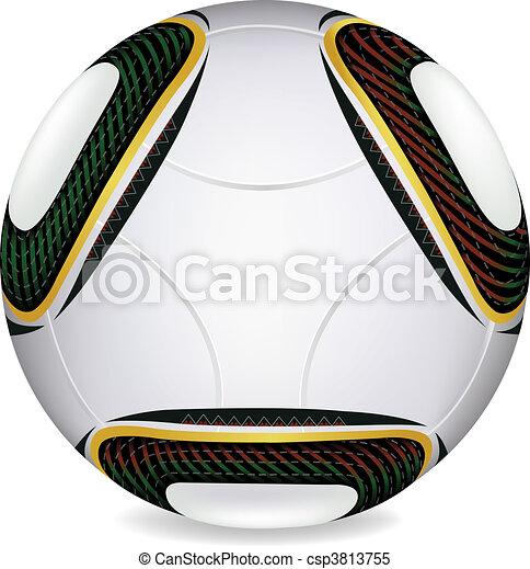 World Cup 2010 Jabulani soccer ball In Vector  - csp3813755