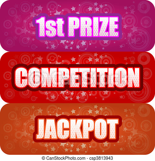 1st Prize, Competition, Jackpot - csp3813943