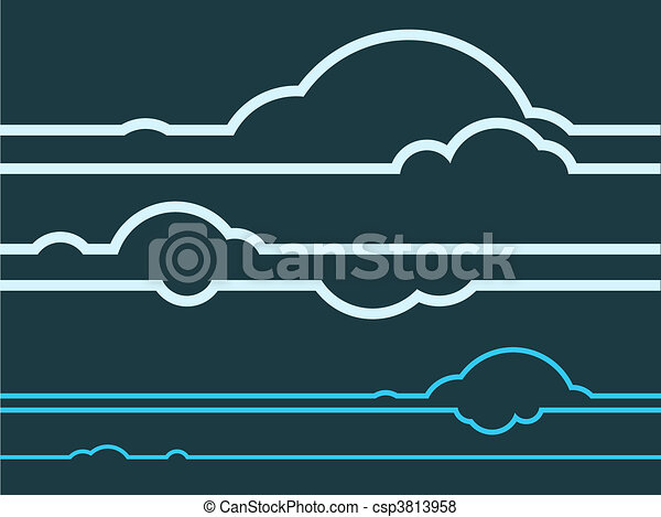 vector of cloud graphics vector layered vector