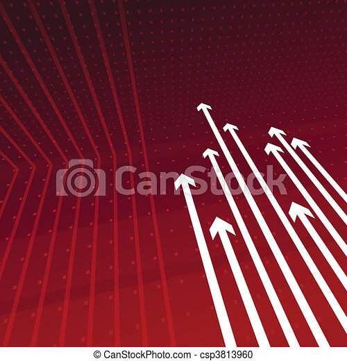 Dynamic perspective arrows on red - csp3813960