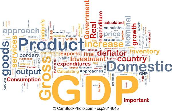 GDP economy background concept - csp3814845
