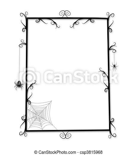 Fun Goth or Halloween Frame - csp3815968