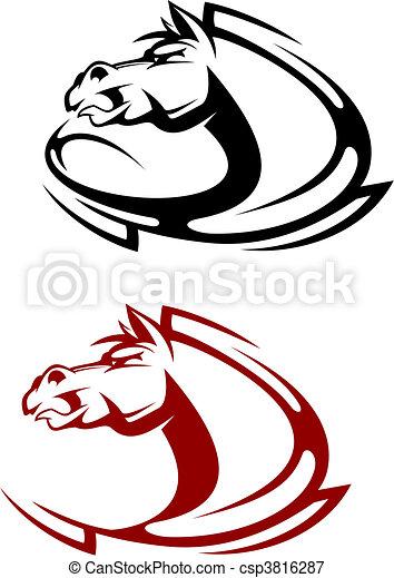Horse tattoo - csp3816287