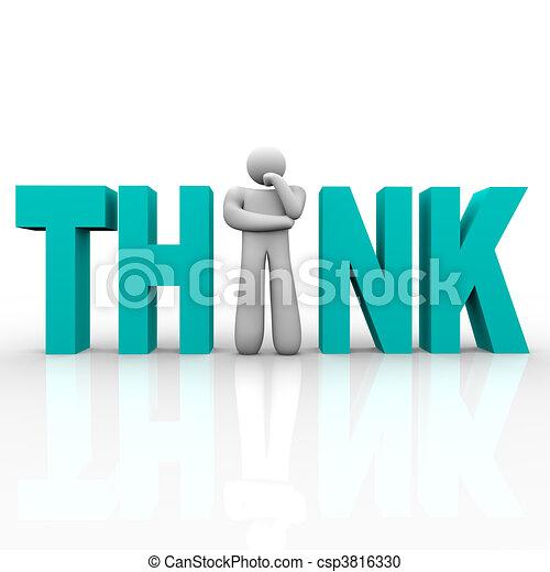 Think - Man in Word - csp3816330