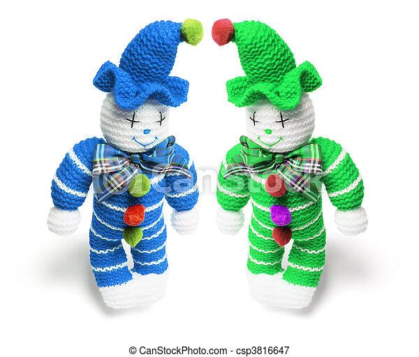 juguete, payasos, De lana - csp3816647