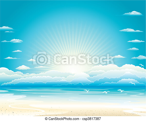Summer Seascape - csp3817387