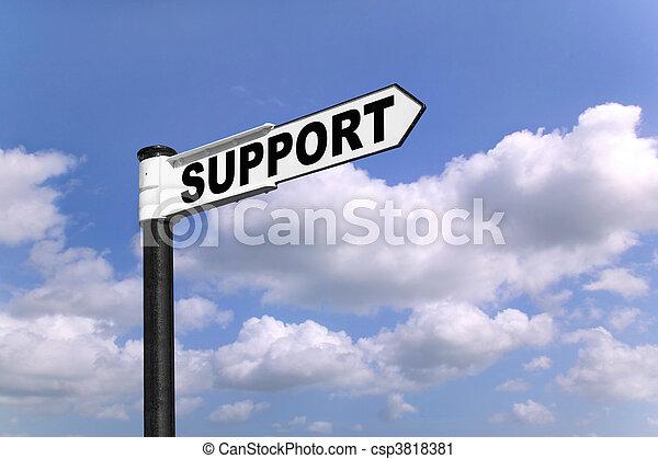 Support signpost - csp3818381