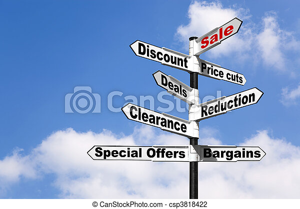 Sale and Discount signpost - csp3818422