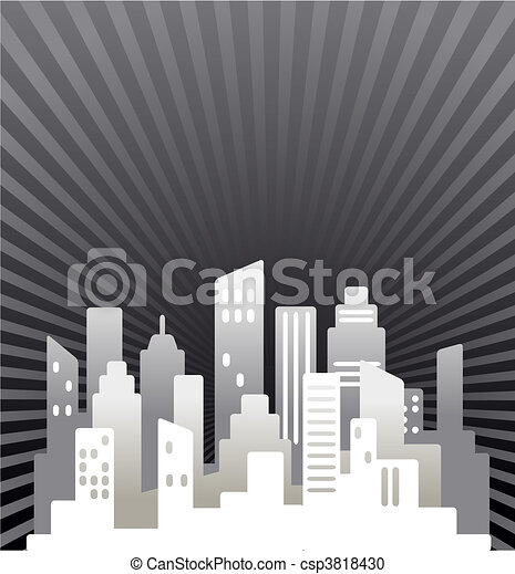 Black and white  real estate background - csp3818430