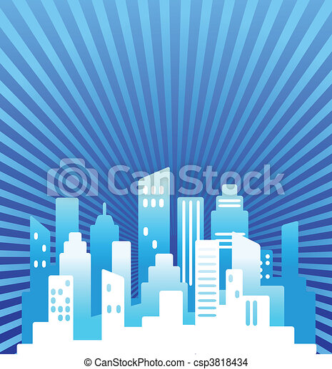 Blue real estate background - csp3818434