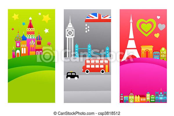 European travel destinations - csp3818512