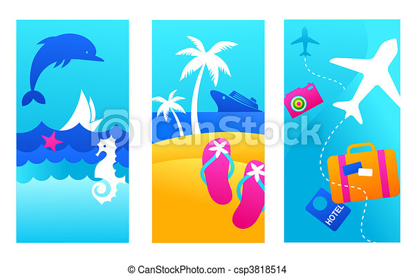 Summer vacation backgrounds - csp3818514
