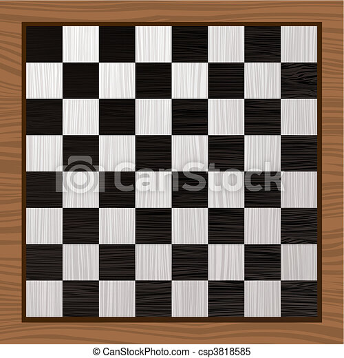 Black and white chess board - csp3818585