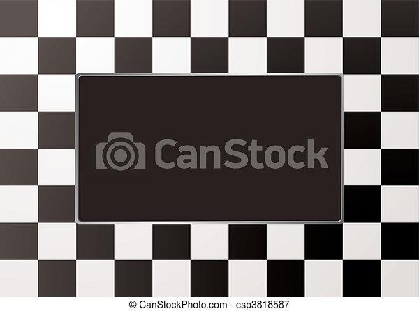 checkered mono picture frame - csp3818587