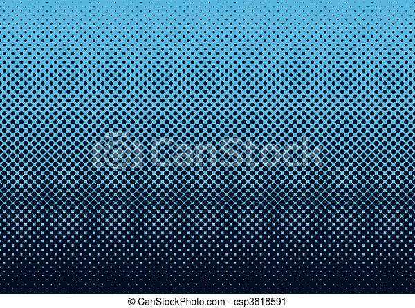 Halftone background blue - csp3818591