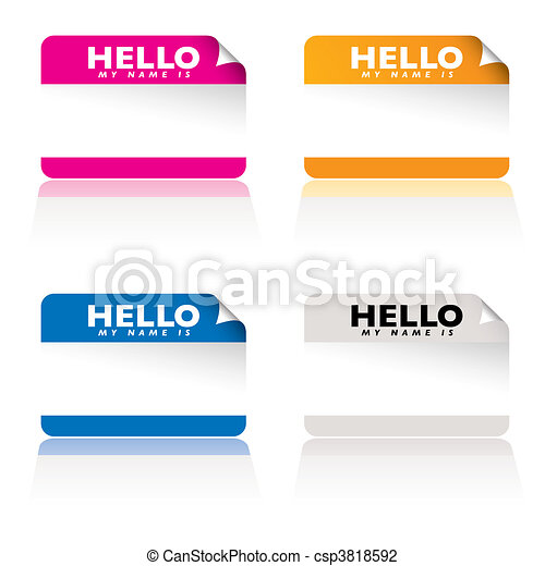 Hello my name is variation - csp3818592