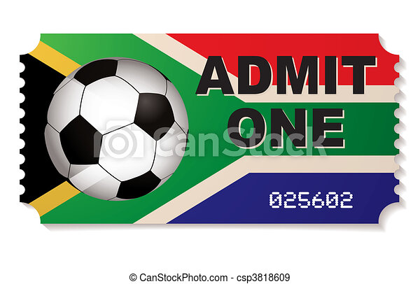 south africa football ticket - csp3818609