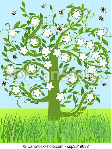 Apple blossom Stock Illustrations. 1,737 Apple blossom clip art ...