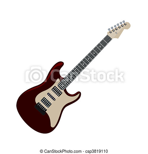 Realistic illustration electric guitar - csp3819110