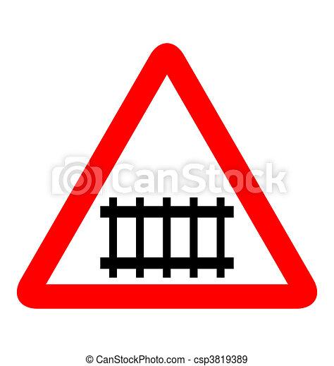 Illustration of road sign railroad - csp3819389