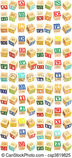 Alphabet Blocks A thru Z - csp3819825
