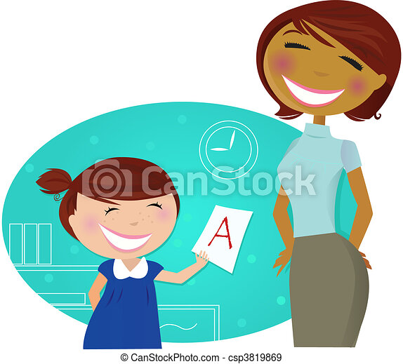 Small cute child with good grades - csp3819869